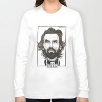 pirlo Long Sleeve T-shirts featuring ANDREA PIRLO by BANDY