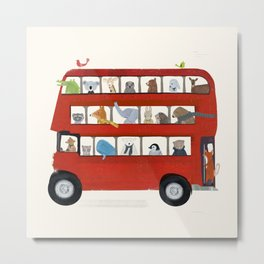 the big little red bus Metal Print