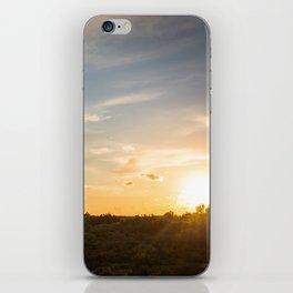 Ocaso en la marisma iPhone Skin