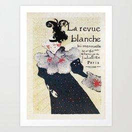 La Revue Blanche Toulouse Lautrec Art Print