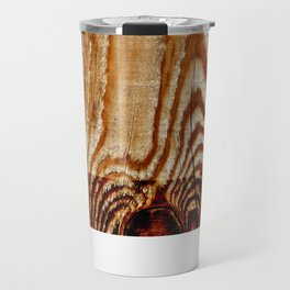 Wood Grain Print Travel Mug