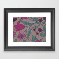 floral knit Framed Art Print