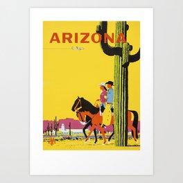 Vintage Arizona  Art Print