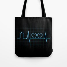 Two Heartbeats Tote Bag