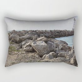Lighthouse at sunset  Rectangular Pillow