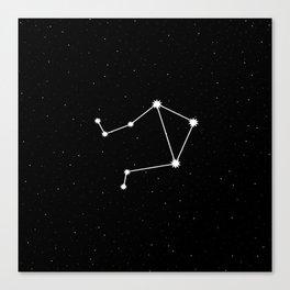 Libra Star Sign Night Sky Canvas Print
