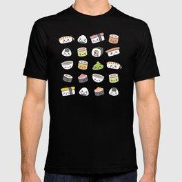 Happy kawaii sushi pattern T-shirt