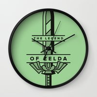 sword Wall Clocks featuring Master Sword by Jacob Cummings