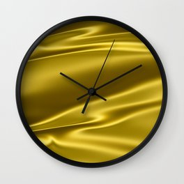 Gold satin texture Wall Clock