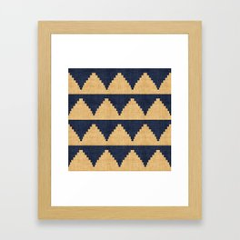 Lash in Blue and Gold Framed Art Print
