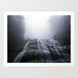Morning Fog At Bridal Falls Art Print