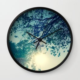 Lost in the Trees:  Blue Wall Clock