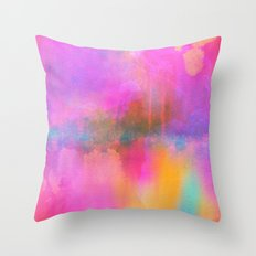Rainbow Watercolor Throw Pillow