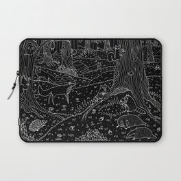 Nocturnal Animals of the Forest Laptop Sleeve