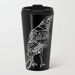 Raven White Travel Mug