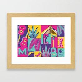 MEXICAN SUMMER BEACH Framed Art Print