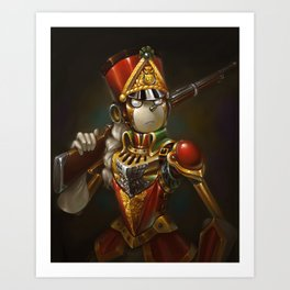Steampunk Robot Portrait Art Print