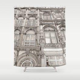 Facades - line art Shower Curtain