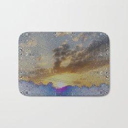 Digital Sunset Moon Day Fractal Harmonic Magick #1 Bath Mat