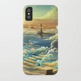 on shore of the sky iPhone Case