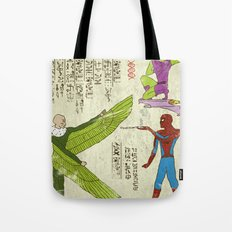 Hero-glyphics: Web-Slinger  Tote Bag
