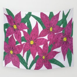 Ultra Violet Lily Bouquet Wall Tapestry