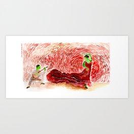 A fiery dance Art Print