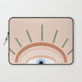 Retro evil eye - neutrals Laptop Sleeve
