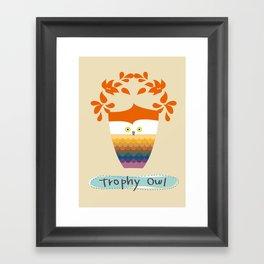 Trophy Owl Framed Art Print
