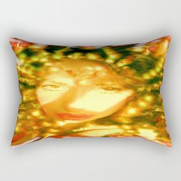 fire of the belly dancer ladykashmir Rectangular Pillow