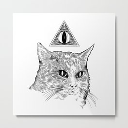 Cat of doom Metal Print