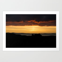 Lower Todrigg Sunset Art Print