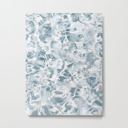 Marbled Water Nature Abstract Muted #artprints #decor #society6 Metal Print