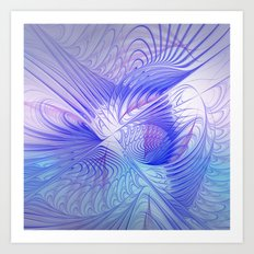 blue and lilac on texture Art Print