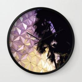 Epcot Globe at Night Wall Clock
