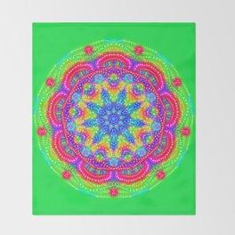 Amazing Day Neon Mandala Throw Blanket