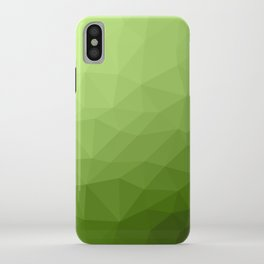 Greenery ombre gradient geometric mesh iPhone Case