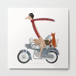little biker buddies Metal Print