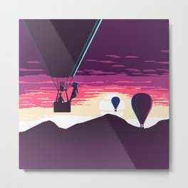 Balloon Rider at Sunset Metal Print