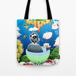 Some pigs fly in the rain Tote Bag