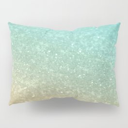 Sparkling Gold Aqua Teal Glitter Glam #1 #shiny #decor #society6 Pillow Sham