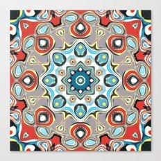 Abstract Pastels Mandala Canvas Print