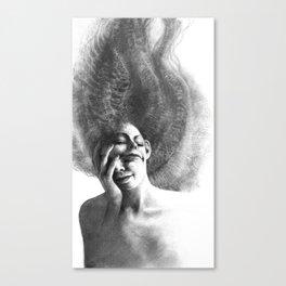Masks by Iris Compiet Canvas Print
