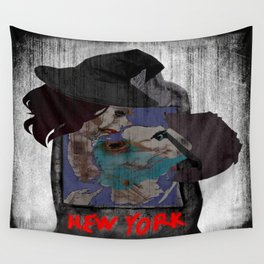 Dark kiss - NYC map Wall Tapestry