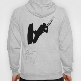 Up Up And Away Kiteboarder Silhouette Hoody