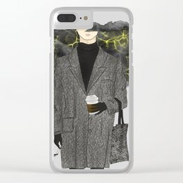 Rainy Day - Bad mood Clear iPhone Case