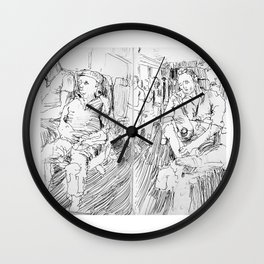 Train ride Wall Clock