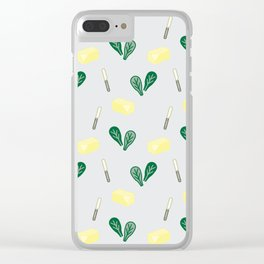 Butter & Spinach Clear iPhone Case