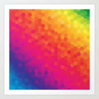 honeycomb Art Prints featuring honeycomb by snja