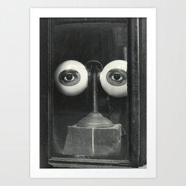 Eyes of God - Optician's Shop Window black and white photography / photographs Art Print